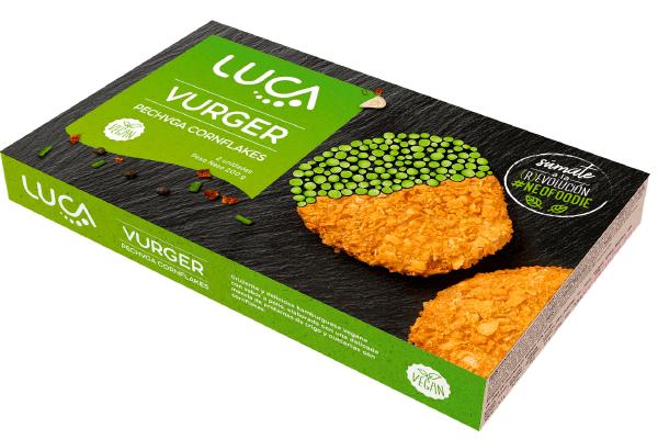 burger vegano pollo crujiente cornflakes LUCA