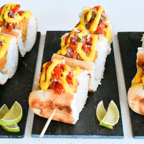 Ingredientes para elaborar hot dogs veganos