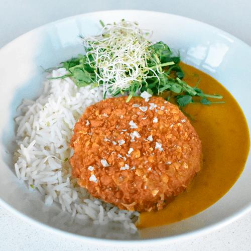 receta katsu curry con pollo vegano