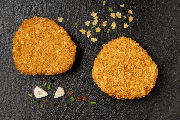 hamburguesa de carne vegetal sabor a pollo burger vegana