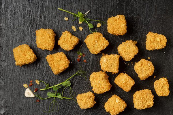 nuggets veganos sabor pollo carne vegetal